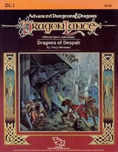 Advanced Dungeons & Dragons DragonLance Vintage Book Softcover DL1 Dragons of Despair [Used Condition: Good]