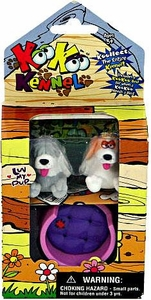 KooKoo Kennel Flocked Pup Koollectibles Mini Figure 2-Pack [RANDOM Dogs]
