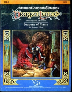 Advanced Dungeons & Dragons DragonLance Vintage Book Softcover DL2 Dragons of Flame [Used Condition: Good]