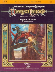 Advanced Dungeons & Dragons DragonLance Vintage Book Softcover DL3 Dragons of Hope [Used Condition: Good]