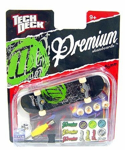 Tech Deck Single 96mm Skateboard Premium [Black & Green]