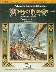 Advanced Dungeons & Dragons DragonLance Vintage Book Softcover DL6 Dragons of Ice [Used Condition: Good]