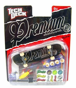 Tech Deck Single 96mm Skateboard Premium [Black & Gray Logo]
