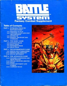 Advanced Dungeons & Dragons Vintage Book Softcover Battle System Fantasy Combat Supplement [Used Condition: Fine Incomplete]