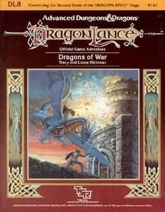 Advanced Dungeons & Dragons DragonLance Vintage Book Softcover DL8 Dragons of War [Used Condition: Good]