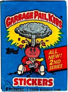 Topps Garbage Pail Kids Trading Cards Series 2 Wax Booster Pack