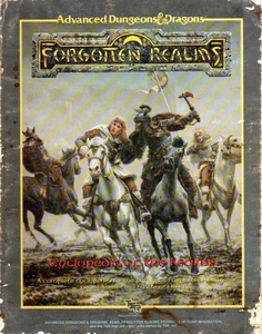Advanced Dungeons & Dragons Forgotten Realms Vintage Book Softcover Cyclopedia of the Realms [Used Condition: Good]