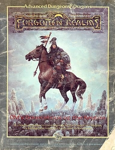 Advanced Dungeons & Dragons Vintage Book Softcover Forgotten Realms: DM's Sourcebook of the Realms [Used Condition: Near Mint]