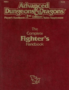 Advanced Dungeons & Dragons 2nd Edition Vintage Book Softcover The Complete Fighter's Handbook Rules Supplement 2110 [Used Condition: Near Mint]