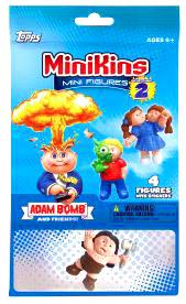 Topps Garbage Pail Kids Series 2 MiniKins Mini Figures Jumbo Pack [3 Mystery & 1 Visable Figure] New!