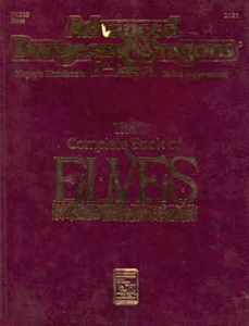 Advanced Dungeons & Dragons 2nd Edition Vintage Book Softcover The Complete Book of Elves Rules Supplement 2131 [Used Condition: Fine]