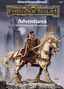 Advanced Dungeons & Dragons 2nd Edition Vintage Book Hardcover Forgotten Realms: Adventures [Used Condition: Poor]