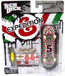 Tech Deck Single 96mm Skateboard ExpeditionOne [Red & Green]