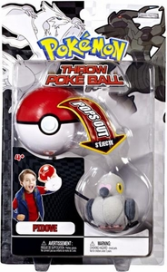 Pokemon Black & White Toy Plush Series 2 Throw Poke Ball Pidove