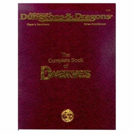 Advanced Dungeons & Dragons Vintage Book Softcover The Complete Book of Dwarves Rules Supplement 2124 [Used Condition: Fine]