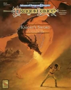 Advanced Dungeons & Dragons 2nd Edition DragonLance Vintage Book Softcover DLQ1 Knight's Sword [Used Condition: Good]