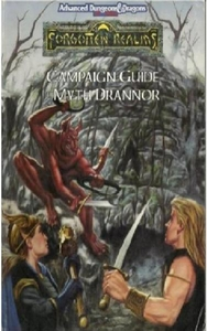 Advanced Dungeons & Dragons 2nd Edition Vintage Book Softcover Forgotten Realms: Campaign Guide to Myth Drannor [Used Condition: Near Mint]