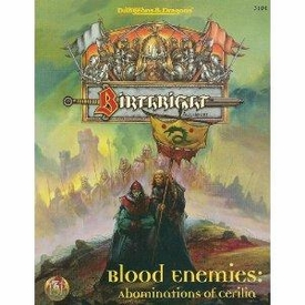 Advanced Dungeons & Dragons Birthright Vintage Book Softcover Blood Enemies: Abominations of Cerilia [Used Condition: Near Mint]