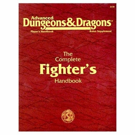 Advanced Dungeons & Dragons Vintage Book Softcover The Complete Fighter's Handbook Rules Supplement 2110 [Used Condition: Near Mint]