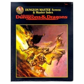 Advanced Dungeons & Dragons Vintage Book Softcover Dungeon Master Screen and Index The Complete Fighter's Handbook Rules Supplement 2110 [Used Condition: Fine Incomplete. Screen Not Included]