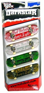 Tech Deck 96mm Skateboard 4-Pack Darkstar [Random Boards!] Hot!