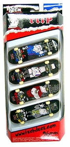 Tech Deck 96mm Skateboard 4-Pack Flip [Rune Glifberg, Lance Mountain, Bob Burnquist & Mark Appleyard]