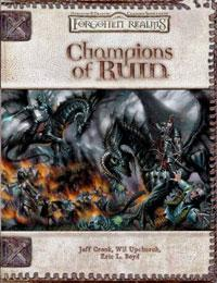 D&D Dungeons & Dragons Forgotten Realms Accessory Champions of Ruin