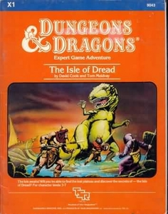 Dungeons & Dragons Vintage Book Softcover Module The Isle of Dread [Used Condition: Fine]