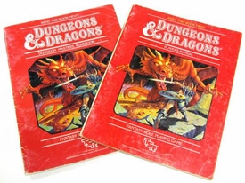 Dungeons & Dragons Vintage Book Softcover Set of Players Manual and Dungeon Masters Rulebook [Used Condition: Fine]