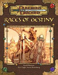 D&D Dungeons & Dragons Race Series Supplement Races of  Destiny