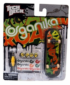 Tech Deck Single 96mm Skateboard Organika [Green & Orange]