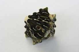 IronDie Single 10-Sided Die D10 Brass Death