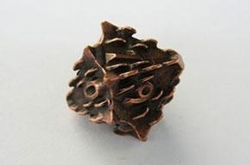 IronDie Single 10-Sided Die D10 Copper Death