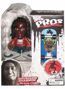 Tech Deck Pro Skater Action Figure with Skateboard Shuriken Shannon [Black Label]