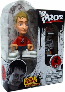 Tech Deck Pro Skater Action Figure with Skateboard Tony Hawk with Red Shirt [Birdhouse]