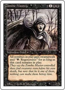 Magic the Gathering Revised Edition Single Card Rare Zombie Master