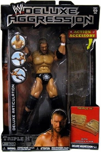 WWE Wrestling DELUXE Aggression Series 23 Action Figure Triple H Damaged Package, Mint Contents!