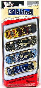 Tech Deck 96mm Skateboard 4-Pack Blind [Ronnie Creager, Jani Laitialia, Kenny Axe & James Craig]