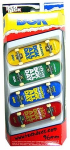 Tech Deck 96mm Skateboard 4-Pack DGK [Marcus McBride, Stevie Williams, McBride & Jack Curtin] MEGA Hot!
