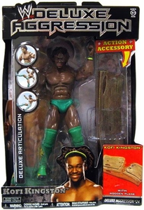 WWE Wrestling DELUXE Aggression Series 24 Action Figure Kofi Kingston [Green Shorts & Boots]