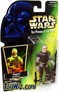Star Wars Power of the Force Hologram Card Dengar w/ Blaster Rifle