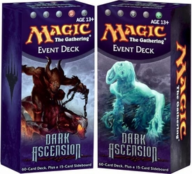 Magic the Gathering Dark Ascension Set of Both Event Decks [Gleeful Flames & Spiraling Doom]