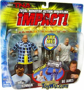 TNA Wrestling Series 1 Action Figure 2-Pack 3 Live Crew: BG James & Konnan