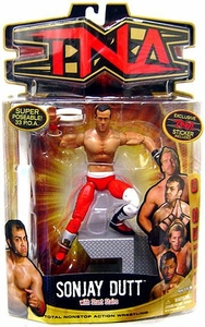 TNA Wrestling Series 6 Action Figure Sonjay Dutt with Red Pants