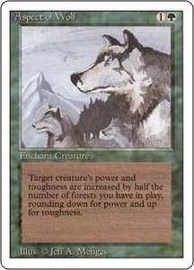 Magic the Gathering Revised Edition Single Card Rare Aspect of Wolf