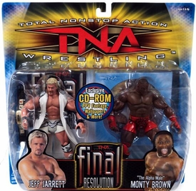 TNA Wrestling Series 2 Action Figure 2-Pack Jeff Jarrett & Monty Brown with CD