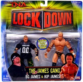 TNA Wrestling Series 3 Action Figure 2-Pack Kip James vs. BG James
