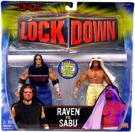 TNA Wrestling Series 3 Action Figure 2-Pack Raven vs. Sabu