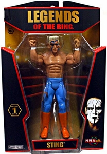 TNA Wrestling Legends of the Ring Series 1 Action Figure Sting [NWA]