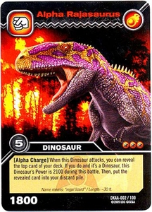 Dinosaur King TCG Alpha Dinosaurs Attack Single Card Common DKAA-002 Alpha Rajasaurus